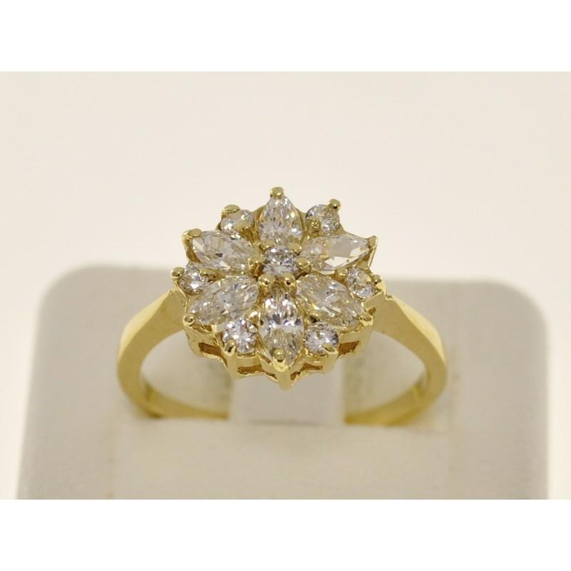 Złoty Pierścionek Zaręczynowy Kwiat Pr 585 Angel Gold