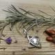 Wisiorek przestrzenny lotos ze srebra próby 925