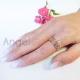 Złoty pierścionek zaręczynowy SERDUSZKA pr. 585