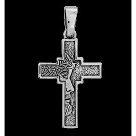 SREBRNY KRZYŻYK Z GŁOWĄ JEZUSA CHRYSTUSA PR. 925 + GRAWER GRATIS!