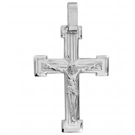 SREBRNY KRZYŻ Z UKRZYŻOWANYM JEZUSEM PR. 925