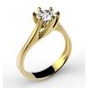 Pierścionek zaręczynowy z dużą cyrkonią ze złota pr. 333