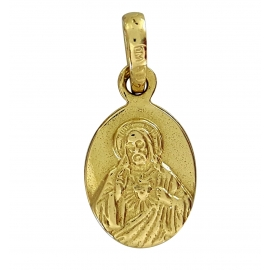 ZŁOTY SZKAPLERZ DWUSTRONNY MEDALIK Z JEZUSEM I MARYJĄ PR. 585