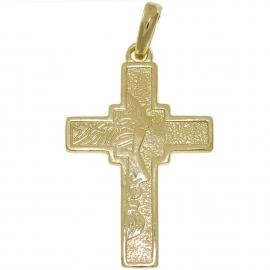 ZŁOTY KRZYŻYK Z JEZUSEM CHRYSTUSEM PR. 333 + GRAWER GRATIS!