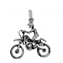 SREBRNY WISIOREK MOTOCYKLISTA MOTOR PR. 925