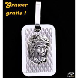 SREBRNY MEDALIK GŁOWA JEZUSA NIEŚMIERTELNIK PR. 925 + GRAWER GRATIS!