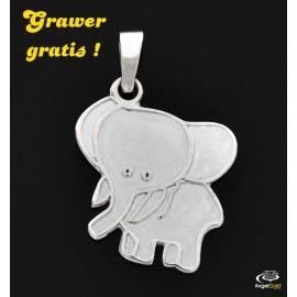 SREBRNY WISIOREK SŁONIK SŁOŃ PR. 925 + GRAWER GRATIS!