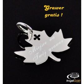 SREBRNY WISIOREK LISTEK PR. 925 + GRAWER GRATIS!